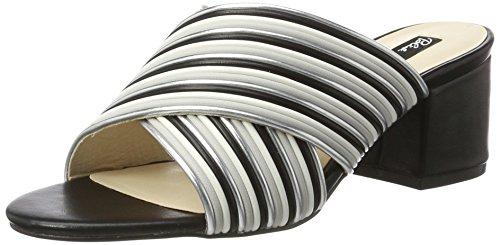 Blink Bl 1295 Bnew-taffyl - Sandalias con cuña Mujer Mehrfarbig (Silver/Grey/Wht/Blk)