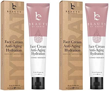 Face Cream Anti Aging Hydration - Natural & Organic Ingredients, Face Moisturizer for Dry Skin, Anti Aging Face Cream, Anti Aging Moisturizer for Face, Anti Wrinkle Cream for Women (2 Tubes)
