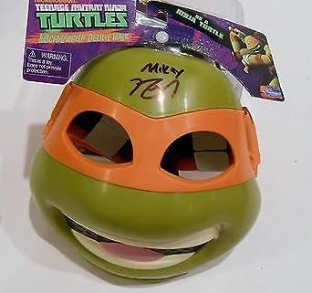 Noel Fisher Signed Michelangelo Toy Mask w/COA Teenage ...