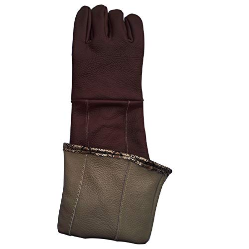 Anti-pet Catching Long and Thick Leather Work Protective Gloves,Brown by Cut-proof protective gloves (Image #1)