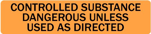 Controlled Substance - Veterinary Label / Stickers, 500 labels per roll, 1 roll per package
