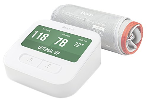 iHealth Clear Wireless Upper Arm Blood Pressure Monitor - WiFi Connected, Color Display, Voice Output by iHealth
