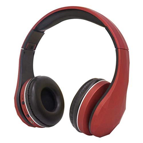 Auricular Bluetooth, Tf Card Fm Bluetooth Three-In-One, TeléFono Con MúSica Montado En La Cabeza, Universal InaláMbrico...