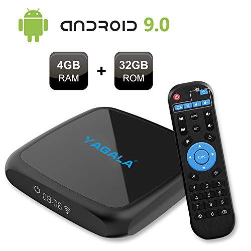 Android TV Box, YAGALA V3 Android 9.0 TV Box with RK3318 Quad Core 4GB RAM 32GB ROM Dual WiFi 2.4G/5G LAN Ethernet UHD…