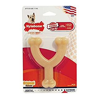 Nylabone Wishbone Power Chew Dog Toy Original Flavor Small/Regular - Up to 25 lbs.