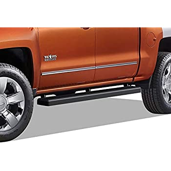 "FOR 2007-2018 CHEVY SILVERADO 1500 2500HD DOUBLE CAB 4/"" OVAL NERF BARS SIDE STEP"