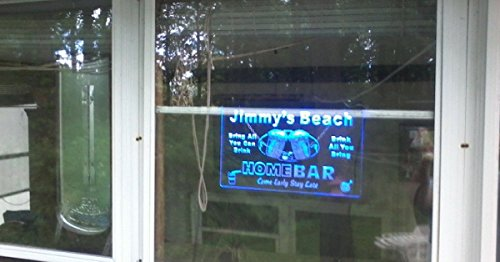 p-tm-b Name Personalized Custom Home Bar Beer Neon Light Sign Blue 16'' x 12'' by AdvPro Custom (Image #6)