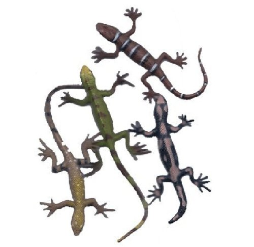 Rhode Island Novelty 12 Assorted Plastic PVC Toy Lizards