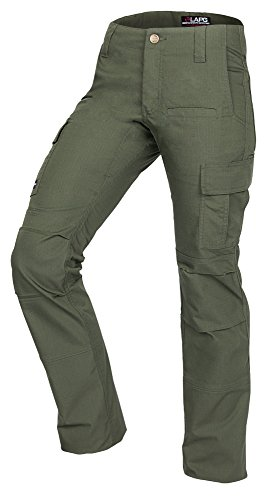 LA Police Gear Women's Mechanical Stretch Ops Tactical Cargo Pants - OD Green-6-REGULAR