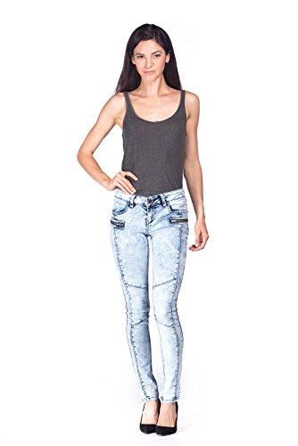 light blue colored jeans - 5