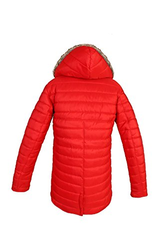 Comfiestyle Comfiestyle Comfiestyle Maniche Donna lunghe Red Cappotto Parka EqwrxEO
