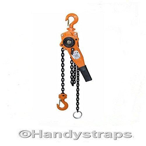 500Kg 0.5 ton Lever Hoist Block ratchet winch pull lift 1.5 metre HandyStraps