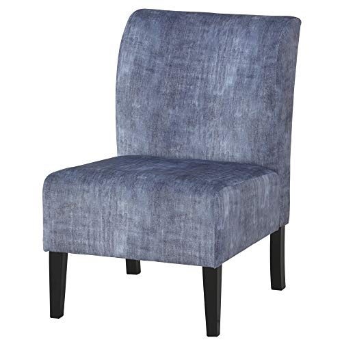 Ashley Furniture Signature Design - Triptis Accent Chair - Contemporary - Denim - Dark Brown Legs