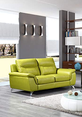 Cortesi Home Chicago Leather Loveseat