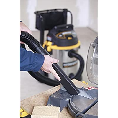 WORKSHOP Wet/Dry Vacs WS1600SS Stainless Steel 6.5-Peak Wet Dry Vacuum Cleaner, 16 Gallon: Home Improvement