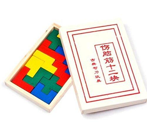 (Tuersuer Children Brain Game, A Set of 12pcs Puzzle Brain Teaser Kids Learning Toys)