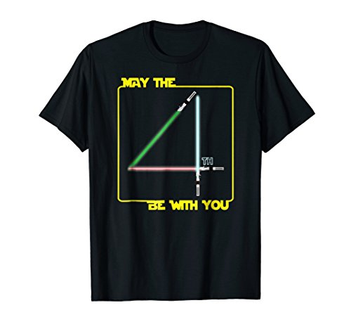 May The 4Th Be With U You  Fourth  Funny Scifi Movie T Shirt
