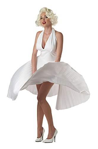 Mememall Fashion Sexy Marilyn Monroe Deluxe Movie Star Official Adult Halloween Costume (Marilyn Sexy Women Costume)