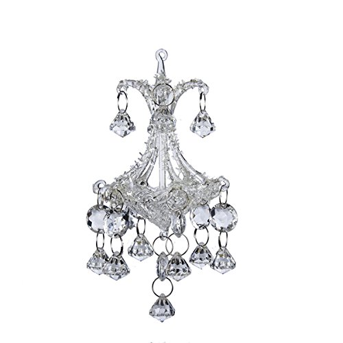 6.3''glass Chandelier Ornament