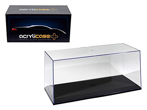 Acrylicase Clear Display Show CASE for 1/18 Diecast Car Black Base
