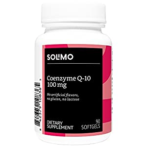 Amazon Brand - Solimo Coenzyme Q-10 100mg, 90 Softgels, Three Month Supply
