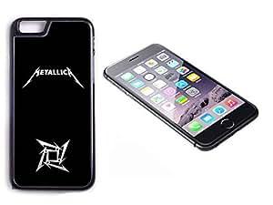 iPhone 6 Black Plastic Hard Case with High Gloss Printed Insert Metallica
