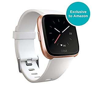 Fitbit Versa Health & Fitness Smartwatch with Heart Rate, Music & Swim Tracking, Rose Gold/White