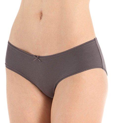 Eberjey Pima Goddess French Brief Panty (U618) S/M/Charcoal