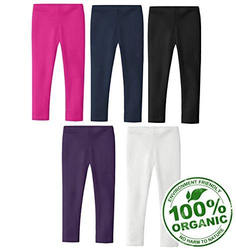 City Threads Girls 100% Certified Organic Cotton Girls Leggings Under Dresses