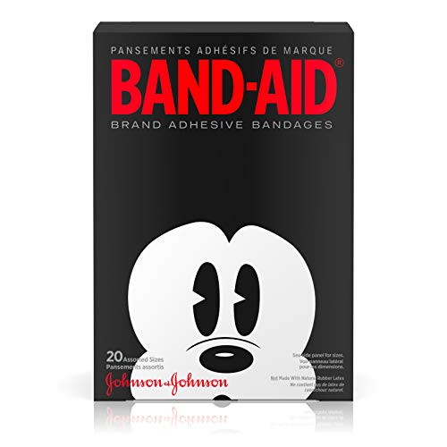 Band-Aid Adult Mickey Adhesive Bandages, Assorted-20 -