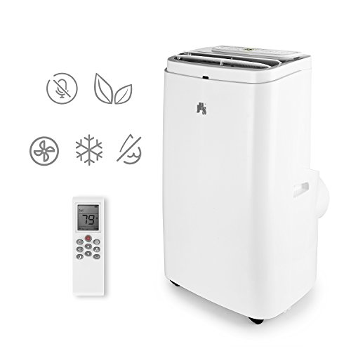 JHS A018-12KR/A 12000 BTU Portable Air Conditioner With LCD Remote Control, Automatic Air Louvers, White