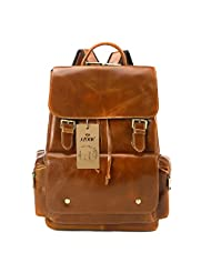 S-ZONE Women's Daily Genuine Leather Casual Backpack Bag