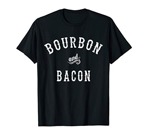 Bourbon and Bacon T-shirt for the pig lover and mash drinker