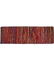 Cotton Multi Chindi Bed Runner Rugs 24x72 inch Multi Color,Cotton Area Rugs Runner,Bed Room Rugs Runnner, Machine Washable Rugs Runner.