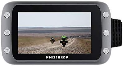 Semoic HD フロントおよびリア 1080Pレンズ Wifi付き オートバイ、機関車の運転レコーダー GPS走行レコーダー