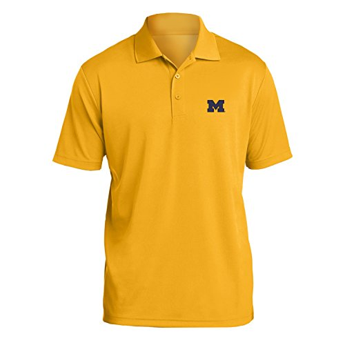 AP07 - Michigan Wolverines Primary Logo Left Chest Mens Polo - Large - ()