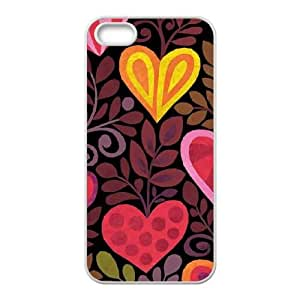 Hearts in Bloom iPhone 5 5s Cell Phone Case White DIY present pjz003_6369960