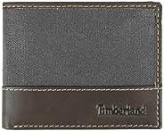 Carteira masculina Timberland de couro com bolso embutido