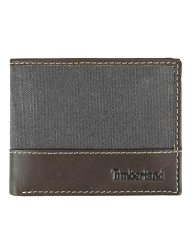 Timberland Men's Baseline Canvas Passcase, Charcoal, One Size