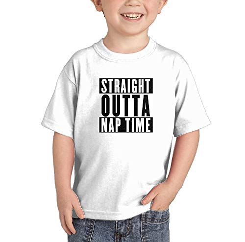HAASE UNLIMITED Straight Outta Nap Time - Hip Hop Parody Infant/Toddler Cotton Jersey T-Shirt (White, 5T)