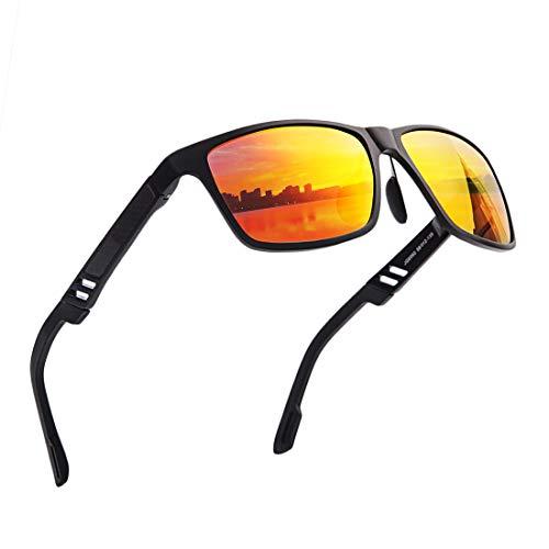 Wayfarer - anteojos de sol polarizadas para hombre y mujer, diseño clásico, protección UV con efecto espejo