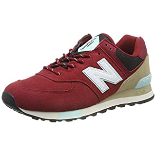 New Balance Men's 574 V2 Sneaker, Nb Scarlet/Light Reef, 4.5 W US