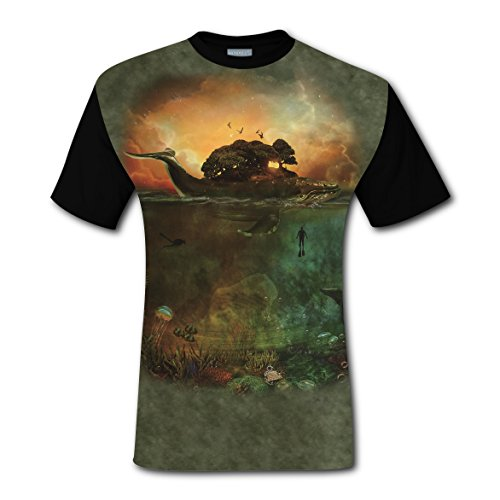 100% Cotton New Fashion Tee Clothing 3D Custom Printed With Sea Fairytale For Men 3XL
