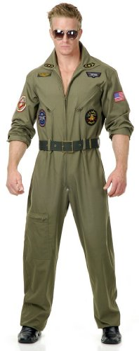Plus Size Top Gun Costumes (Wing Man Adult Costume - Plus Size 1X)
