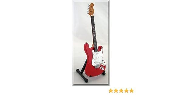 Mark Knopfler Guitarra Miniatura Dire Straits Fender Strat: Amazon ...