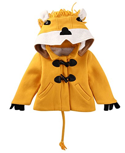 Winter Toddler Kids Girl Boy Fleece Hooded Coat Jacket Outwear Clothes Outfits