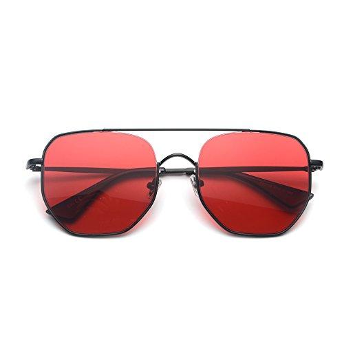 Sol de de Moda Gafas Unisex Sol Metal TL Cuadrada de UV400 Hombre Verano de de Mujer Gafas Sunglasses para AYqxqCPw0