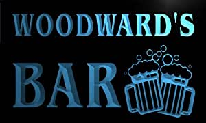 w000875-b WOODWARD Name Home Bar Pub Beer Mugs Cheers Neon Light Sign