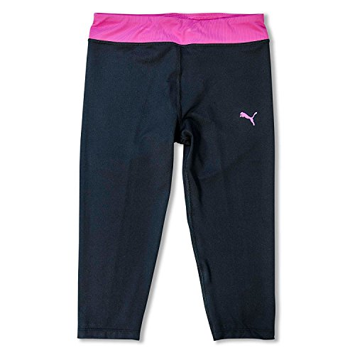 Puma Big Girls Capri Leggings Activewear Workout Gym Crop Pants Black Yoga Pants Black