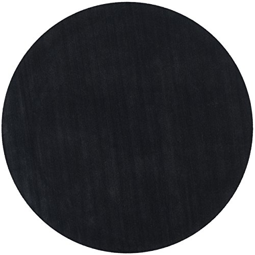 Safavieh Himalaya Collection HIM610C Handmade Black Premium Wool Round Area Rug (4' Diameter)